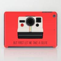 selfie iPad Cases featuring Selfie by Laura Maria Designs