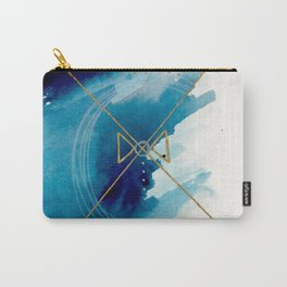 Galaxy Series 3 - a blue and gold abstract mixed media set Carry-All Pouch