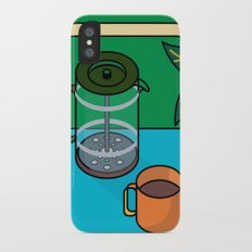 Coffee time Slim Case iPhone X
