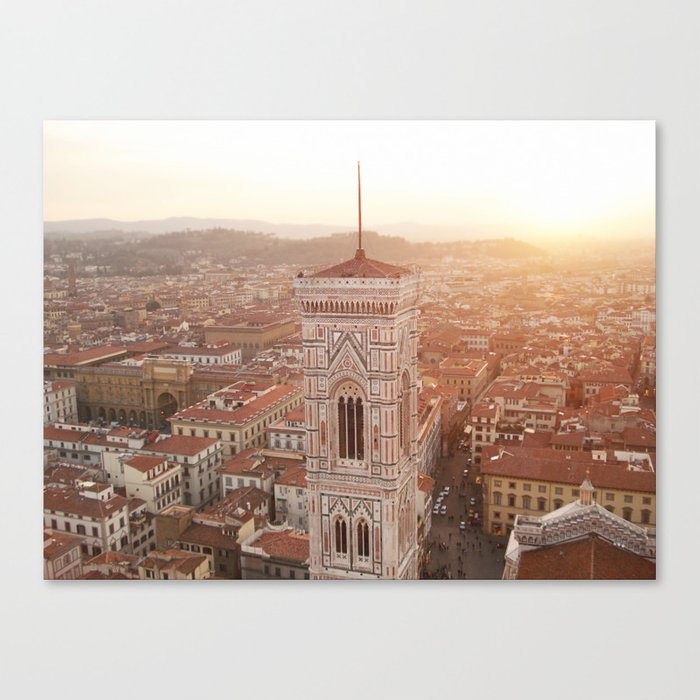 Florence rooftops Canvas Print