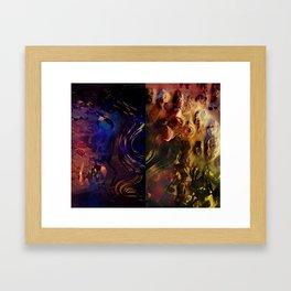 Rosa diptych Framed Art Print