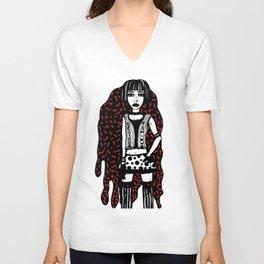 Designer T-Shirt EMO Illustration Unisex V-Neck