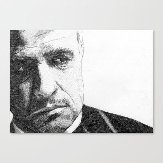 Don Vito Corleone Canvas Print