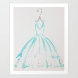 The Turquoise Dress Art Print