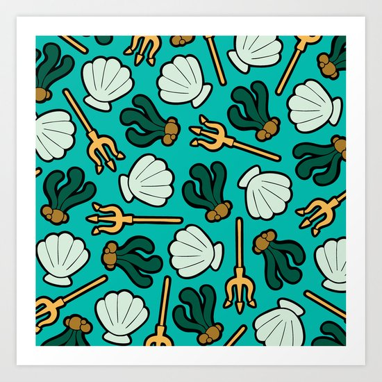 Under the Sea Pattern Art Print