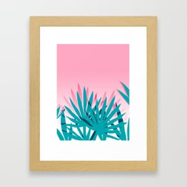 Dissed - memphis retro vintage neon pink pastel ombre trendy girl gift for hipster urban beach goer Framed Art Print