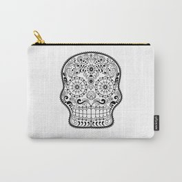 Black and White Sugar Skull Carry-All Pouch