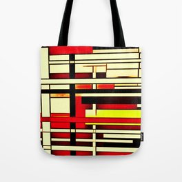 Red Yellow Intersection Tote Bag