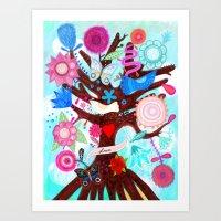 The tree of magic Art Print