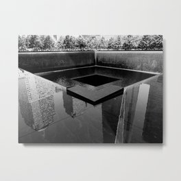 I remember in black and white Metal Print