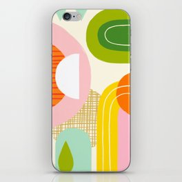 Rise and Shine - Retro Mod Abstract Design iPhone Skin