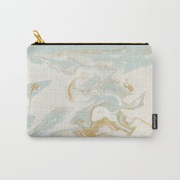 Marble - Cream & Blue Carry-All Pouch