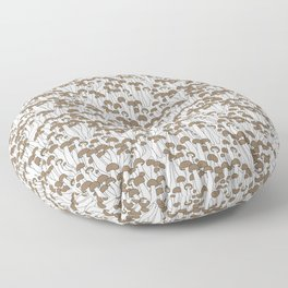 Beech Mushrooms Floor Pillow