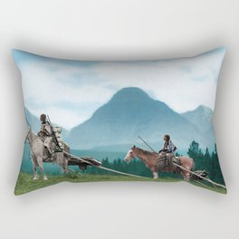 Waiting For The Hunters - Blackfoot Indian Women Rectangular Pillow