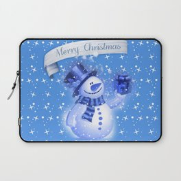 Snowman Christmas Greeting  Laptop Sleeve