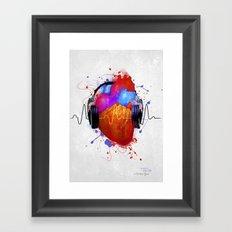 No Music - No Life Framed Art Print