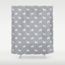 Irish Setter dog silhouette minimal dog breed pattern gifts for dog lover Shower Curtain
