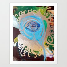 Intro-psychedelic eye Art Print