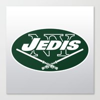 nfl Canvas Prints featuring New York Jedis - NFL by Steven Klock
