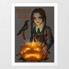 Wednesday Addams - Homicide Art Print