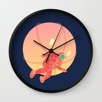 astronaut Wall Clocks featuring Astronaut by chyworks