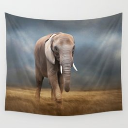 Elephant tour Wall Tapestry
