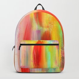 Be Positive - colorful stripes pattern abstract painting Backpack