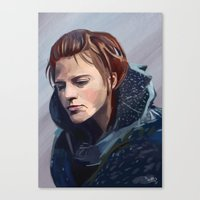 ygritte Canvas Prints featuring Ygritte by Josh Filhol Illustration