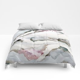 serenity: abstract painting Comforters