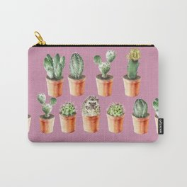 Watercolor cactus and hedgehog friend Carry-All Pouch