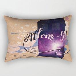 Tardis' Allons-y! Rectangular Pillow
