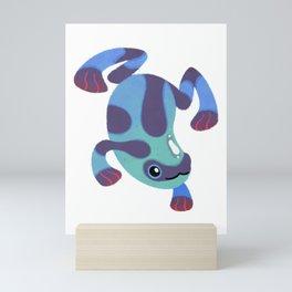 Poison dart frogs - dark Mini Art Print