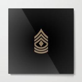 1st Sergeant (Brown) Metal Print