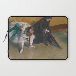Waiting by Edgar Degas Laptop Sleeve
