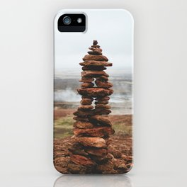 The Geothermal Inukshuk iPhone Case