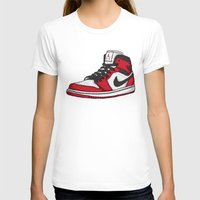 chicago bulls T-shirts featuring Jordan 1 OG (Chicago) by Pancho the Macho