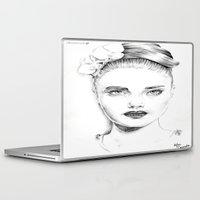 cara delevingne Laptop & iPad Skins featuring Cara Delevingne by Rillwatermist