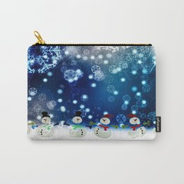 Dancing Snowman By Annie Zeno  Carry-All Pouch