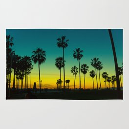 venice california at dusk Rug