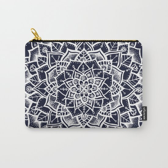 Midnight Blue Mandala Carry-All Pouch