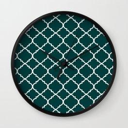 Dark Teal Moroccan Wall Clock