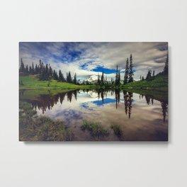 Mountain Reflections Mt Rainier Washington Metal Print