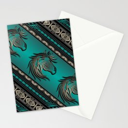 Horse Nation (Aqua) Stationery Cards