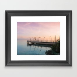 A Suspended Moment In Time Over The Lake Framed Art Print