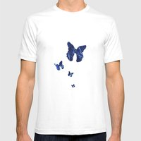 Butterfly Mens Fitted Tee SMALL White