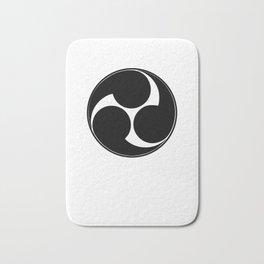 TAIKO MITSUDOMOE BLACK GRAPHIC print Bath Mat