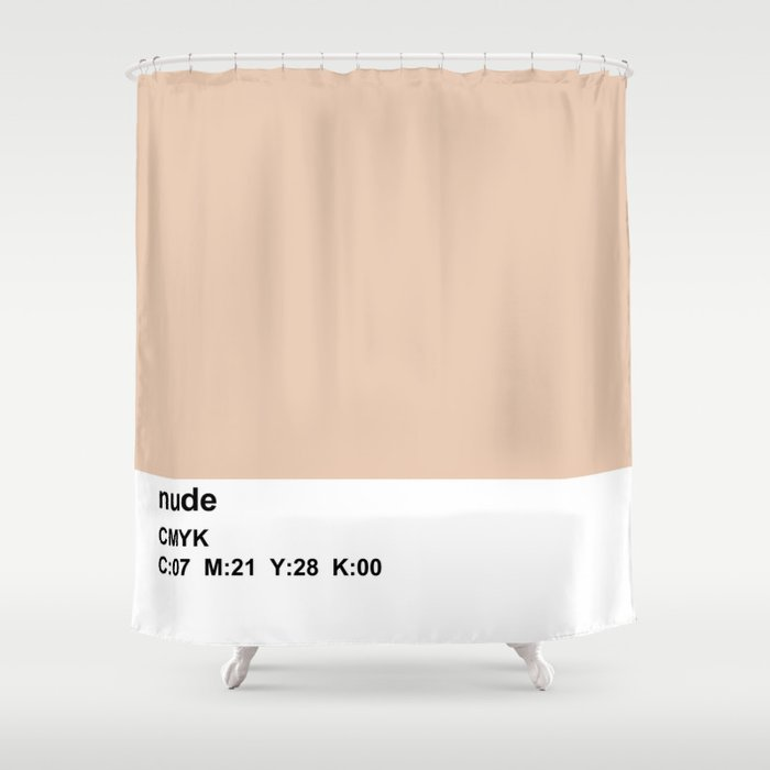 Pantone Nude CMYK Colorblock Shower Curtain