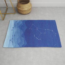 Orion Constellation, mountains Rug