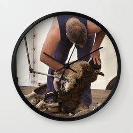 The shearer Wall Clock