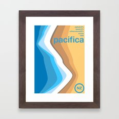 pacifica single hop Framed Art Print